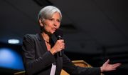 Green Party presidential candidate Jill Stein delivers remarks at Wilkes University in Wilkes-Barre, Pa. on Wednesday, Sept. 21, 2016. (Christopher Dolan/The Citizens' Voice via AP)