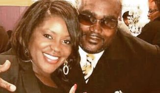 Terence Crutcher, right, with his twin sister Tiffany. Crutcher, an unarmed black man was killed by a white Oklahoma officer Friday, Sept. 16, 2016, who was responding to a stalled vehicle. (Courtesy of Crutcher Family/Parks & Crump, LLC via AP, File)
