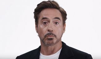 Hollywood actor Robert Downey Jr. has joined a slew of his peers for an anti-Trump ad created by super PAC Save the Day. (YouTube, Save the Day)