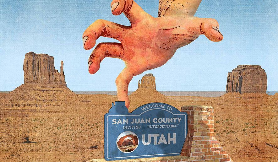 Federal Land Grab Illustration by Greg Groesch/The Washington Times