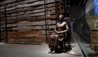 A statue depicts civil rights pioneer Clara Brown, who was born a slave in Virginia around 1800. She was freed when her owner died in 1856 and traveled to Colorado, where she established a successful laundry business. (Associated Press)