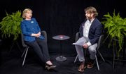 """In this undated image released by FunnyorDie.com, Democratic presidential candidate Hillary Clinton, left, appears with actor-comedian Zach Galifianakis during an appearance for the online comedy series, """"Between Two Ferns."""" (FunnyorDie.com via AP)"""