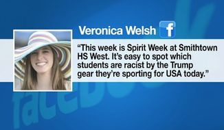 Veronica Welsh, a world language teacher at Smithtown High School West in Long Island, New York, is being disciplined after she branded pro-Donald Trump students as racists. (News 12 Long Island)