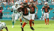 Cleveland Browns wide receiver Terrelle Pryor (11) runs the ball during the second half of an NFL football game against the Miami Dolphins, Sunday, Sept. 25, 2016, in Miami Gardens, Fla. (AP Photo/Lynne Sladky)