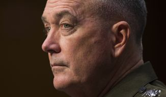 Joint Chiefs of Staff Chairman Gen. Joseph Dunford is now preparing his first National Military Strategy. (Associated Press)