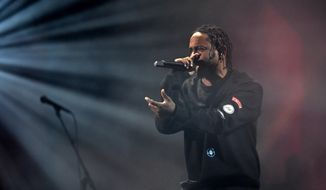 Kendrick Lamar performs at the Global Citizen Festival in New York., Saturday, Sept. 24, 2016. (AP Photo/Kathy Kmonicek)