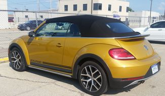 The Volkswagen Beetle has always been known as a happy car. It's no different in 2016 so whether you opt for the coupe or the convertible like I drove, you will be smiling about it. (Photo by Rita Cook)