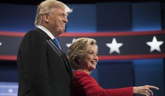 Hillary Clinton needled Donald Trump from the start, saying he was born wealthy and is focused on helping the wealthy with an economic policy skewed toward the rich. (Associated Press)