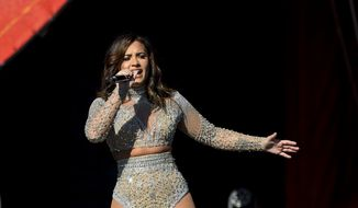 Demi Lovato performs at the Global Citizen Festival in New York., Saturday, Sept. 24, 2016. (AP Photo/Kathy Kmonicek)