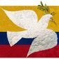 Illustration on the Colombia peace accord and cocaine exportation by Alexander Hunter/The Washington Times