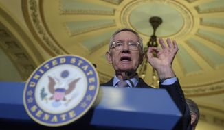"""The Republicans are essentially saying the disasters in our states are more important than the disasters in your state,"" Senate Minority Leader Harry Reid said. (Associated Press)"
