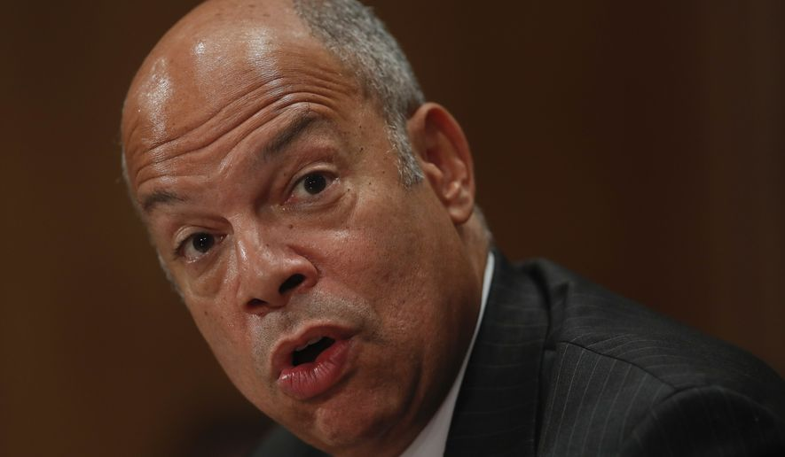 Jeh Johnson, who served as homeland security secretary from late 2013 through the end of the Obama administration, said he began to receive reports of attempted hacks of state elections systems in August, about the time the FBI issued a public warning. (Associated Press/File)