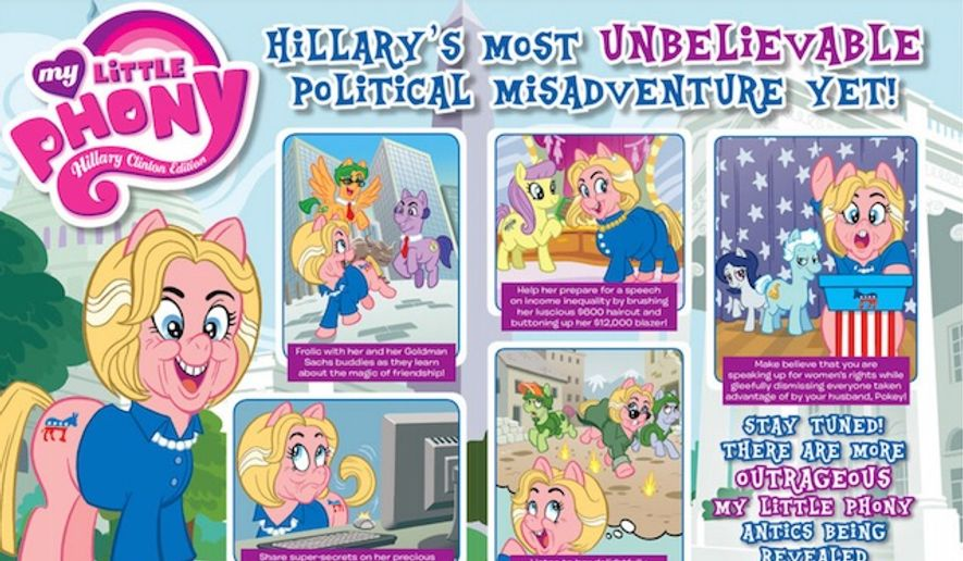 "Hillary Clinton will be targeted in the October issue of MAD Magazine as ""My Little Phony."" (MAD Magazine)"