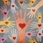 Hearts and Hands Helping Illustration by Greg Groesch/The Washington Times