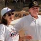 Alicia Machado, as Miss Universe, made an appearance with pageant owner Donald Trump in 1997. Mr. Trump was presumably showing support as Ms. Machado prepared to work out in The Greenhouse Spa at the businessman's Mar-a-Lago club in Florida after criticism about her weight gain. (Associated Press)