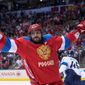 Russia's Alex Ovechkin tied for the team lead in points with three goals in four World Cup games. After returning to Capitals on Wednesday, he has some time to ramp up until the Oct. 13 season opener. (Associated Press)