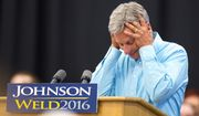 "Libertarian presidential candidate Gary Johnson repeatedly blanked when asked by MSNBC host Chris Matthews ""who's your favorite foreign leader?"" (Associated Press)"