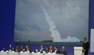 Wilbert Paulissen of the Joint Investigation Team (JIT) speaks on the preliminary results of the investigation into the shooting-down of Malaysia Airlines jetliner flight MH17 during a press conference in Nieuwegein, Netherlands, Wednesday, Sept. 28, 2016. The disaster claimed 298 lives. (AP Photo/Peter Dejong)
