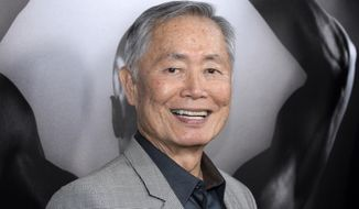 """In this March 15, 2016 file photo, actor George Takei attends the premiere of """"Mapplethorpe: Look at the Pictures"""" in Los Angeles, Calif. (Photo by Phil McCarten/Invision/AP, File)"""
