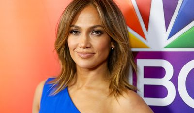 """In this Jan. 13, 2016, file photo, Jennifer Lopez arrives at the 2016 NBCUniversal Winter TCA in Pasadena Calif. NBC announced on Oct. 27 that Ms. Lopez will star in a December 2017 live musical production of """"Bye Bye Birdie"""" (Photo by Rich Fury/Invision/AP, File) **FILE**"""