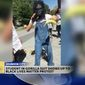 Tristan Rettke, a freshman student at East Tennessee State University, was arrested and suspended after he donned a gorilla mask and started handing out bananas at a Black Lives Matter rally on campus. (WJHL)