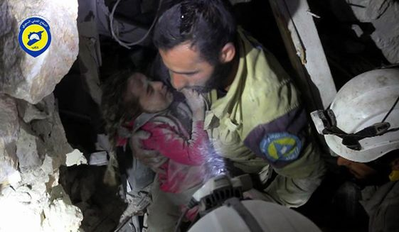 Civilian deaths matter little to Russians and may in fact aid the cause by hastening the ultimate victory in Syria. (Associated Press/File)