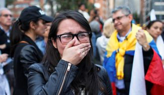 Supporters of the peace accord between Colombia and the FARC rebels were devastated as the treaty vote failed to pass. (Associated Press)