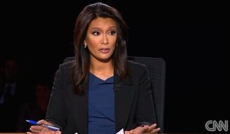 Elaine Quijano moderated CBS News' vice presidential debate on Tuesday, Oct. 4, 2016. (CNN screenshot)