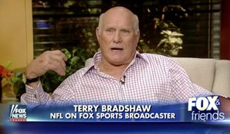 "Pro Football Hall of Fame quarterback Terry Bradshaw has a ""problem"" with football players boycotting the national anthem, because he says it further signals that the U.S. is losing its moral compass and ""rotting from within."" (Fox News)"