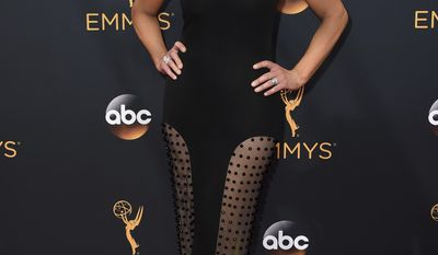 """FILE - In this Sunday, Sept. 18, 2016, file photo, Nancy O'Dell arrives at the 68th Primetime Emmy Awards at the Microsoft Theater in Los Angeles. O'Dell of """"Entertainment Tonight"""" is calling Donald Trump's 2005 taped lewd remarks about her sad and disappointing. In a statement released by the show Saturday, Oct. 8, 2016, O'Dell said no one should be the subject of such crass comments and that everyone deserves respect, whether or not cameras are rolling. (Photo by Jordan Strauss/Invision/AP, File)"""