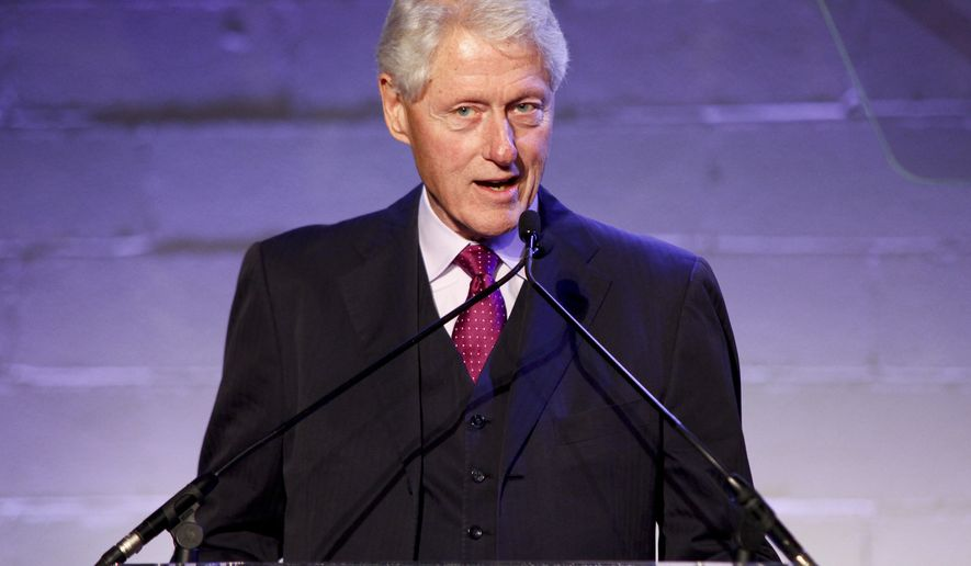 Former President Bill Clinton attends the Jon Bon Jovi Soul Foundation (JBJSF) benefit gala, celebrating ten years of combating hunger and homelessness, at The Garage on Thursday, Oct. 6, 2016, in New York. (Photo by Andy Kropa/Invision/AP)