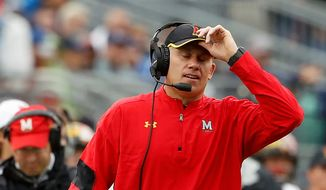 """Maryland coach DJ Durkin said the loss to Penn State was """"a great learning experience for us"""" and """"a team is going to hit you in the mouth every now and again."""" (Associated Press)"""