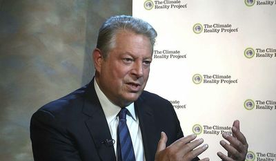 Former Vice President Al Gore is interviewed by The Associated Press in Nashville, Tenn., on Nov. 9, 2015. (Associated Press) **FILE**