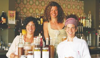 (from left) Jennifer, Jill and Jessica Emich, owners of Shine Restaurant and Gathering Place.  (Susan France)