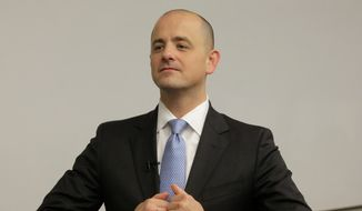 """Independent conservative presidential candidate Evan McMullin said people will be able to vote for him in more than 40 states by Election Day, and says interest has surged """"tenfold"""" in the last week. He has colored his candidacy with a distinct anti-Trump tinge. (Associated Press)"""