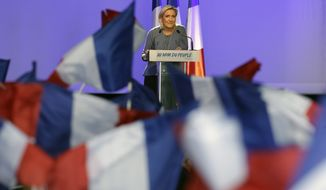 Opinion polls show that National Front party leader Marine Le Pen would win 30 percent of the national vote if France's elections were held today. (Associated Press)