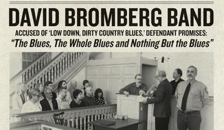 """This cover image released by Red House Records shows """"The Blues, The Whole Blues, And Nothing But The Blues,"""" by the David Bromberg Band. (Red House Records via AP)"""