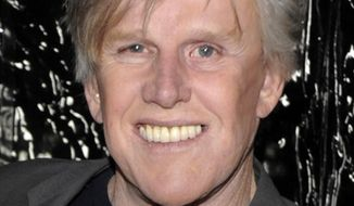 "FILE - In this Dec. 8, 2009 file photo, actor Gary Busey arrives at the premiere of the feature film ""Crazy Heart"" in Beverly Hills, Calif.  Busey will make his New York stage debut next month in the off-Broadway show ""Perfect Crime,"" playing a serial killer in the cast of the longest-running play in city history. He will play Lionel McAuley, a charismatic serial killer starting Nov. 21, 2016 at The Theater Center near Times Square. (AP Photo/Dan Steinberg, file)"