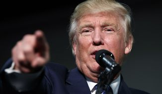 Republican presidential candidate Donald Trump speaks during a campaign rally, Friday, Oct. 14, 2016, in Charlotte, N.C. (AP Photo/ Evan Vucci)