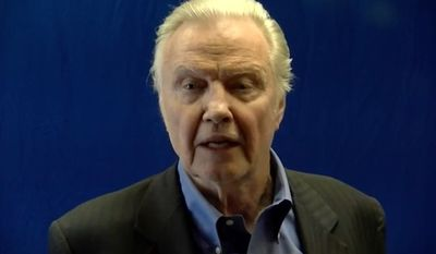 Jon Voight released a pro-Donald Trump video on Thursday warning Americans what a Hillary Clinton presidency would do to the economy, the Constitution and the country's stability. (YouTube/@Jon Voight)