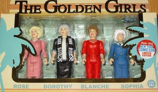 "Action figures of the 1980s television show ""The Golden Girls"" are fetching big bucks on Ebay. (Ebay)"