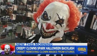 Target has started pulling clown masks from store shelves just days ahead of Halloween due to a growing number of creepy clown sightings that have put the country on edge. (Good Morning America)