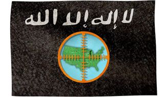 U.S. in the ISIS Crosshairs Illustration by Greg Groesch/The Washington Times