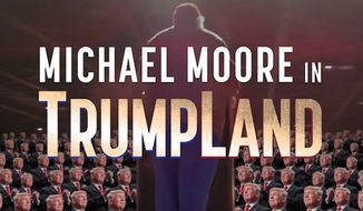 "Michael Moore is debuting a surprise movie about Donald Trump, titled ""Michael Moore in Trumpland,"" Tuesday night at New York City's IFC Center. (ifccenter.com)"