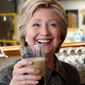 Hillary Clinton has been known to have a drink on the campaign trail, whereas opponent Donald Trump abstains vehemently. (Associated Press)