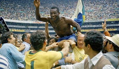 """Pele is widely regarded as the greatest soccer player of all time. Pelé has also been known for connecting the phrase """"The Beautiful Game"""" with football. In 1999, he was voted World Player of the Century by the International Federation of Football History & Statistics (IFFHS). That year, France Football asked their former Ballon d'Or winners to choose the Football Player of the Century; they selected Pelé. In 1999, Pelé was elected Athlete of the Century by the IOC. That year, Time named him in their list of 100 most influential people of the 20th century. In 2013 he received the FIFA Ballon d'Or Prix d'Honneur in recognition of his career and achievements as a global icon of football. According to the IFFHS, Pelé is the most successful league goal-scorer in the world, with 541 league goals. During his career, Pelé scored 1281 goals in 1363 games, which included unofficial friendlies and tour games. He was listed in the Guinness World Records for most career goals scored in football for this. During his playing days, Pelé was for a period the best-paid athlete in the world. (AP Photo)"""