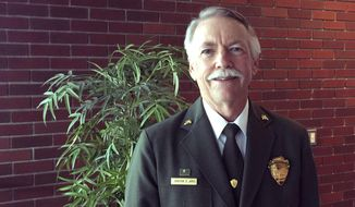 National Park Service Director Jon Jarvis in shown in a photo taken Tuesday, Oct. 18, 2016, at Boise State University in Boise, Idaho. Jarvis says the agency needs to attract younger and more racially diverse visitors if it wants to remain relevant. Jarvis, who is retiring in January, was in Boise to give a speech for the Andrus Center for Public Policy. (AP Photo/Keith Ridler)