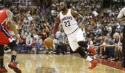 Cleveland Cavaliers' LeBron James plays against the Washington Wizards during an NBA preseason basketball game Tuesday, Oct. 18, 2016, in Columbus, Ohio. (AP Photo/Jay LaPrete)