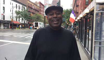 Former Chicago Cubs outfielder and coach Gary Matthews stands on a Manhattan sidewalk Friday, Oct. 21, 2016, in New York. The Cubs are one win away from their first World Series trip since 1945 going into Game 6 of the NL Championship Series on Saturday night against the Los Angeles Dodgers. In 1984, Matthews was a Cubs star when the team lost three straight games in the NLCS and missed going the World Series. In 2003, he was the Cubs' hitting coach when they again lost three in a row in the NLCS and missed a chance to reach the World Series. (AP Photo/Ben Walker)