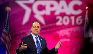 Republican National Committee Chairman Reince Priebus maintains that, despite a bumpy road, the GOP remains behind Donald Trump. (Associated Press)